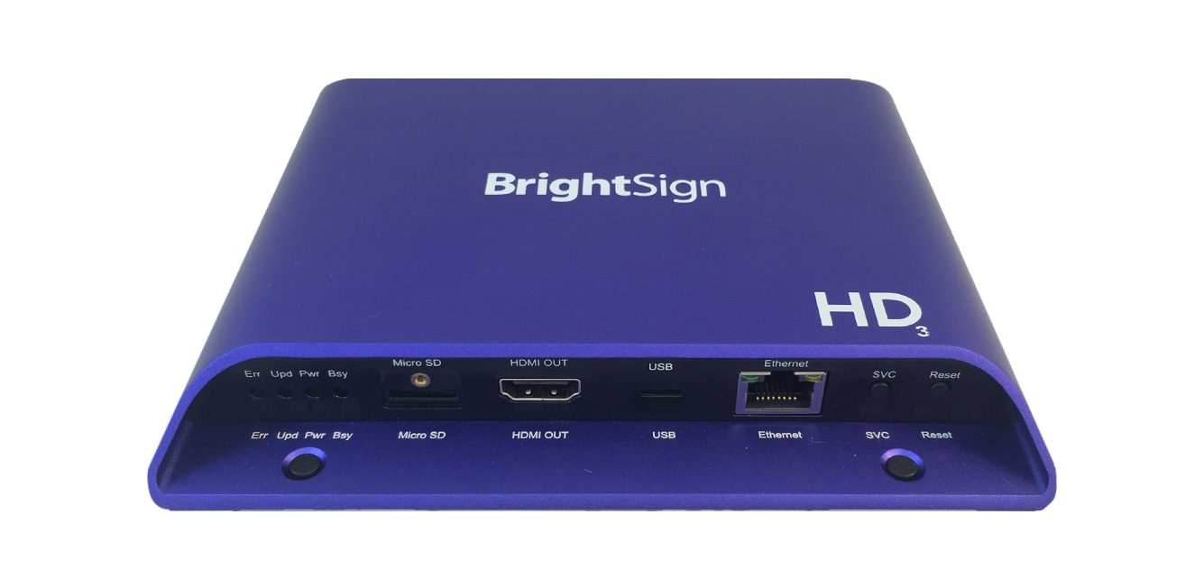 BrightSign HD1023 (1080p60) - HD Player, interaktiv