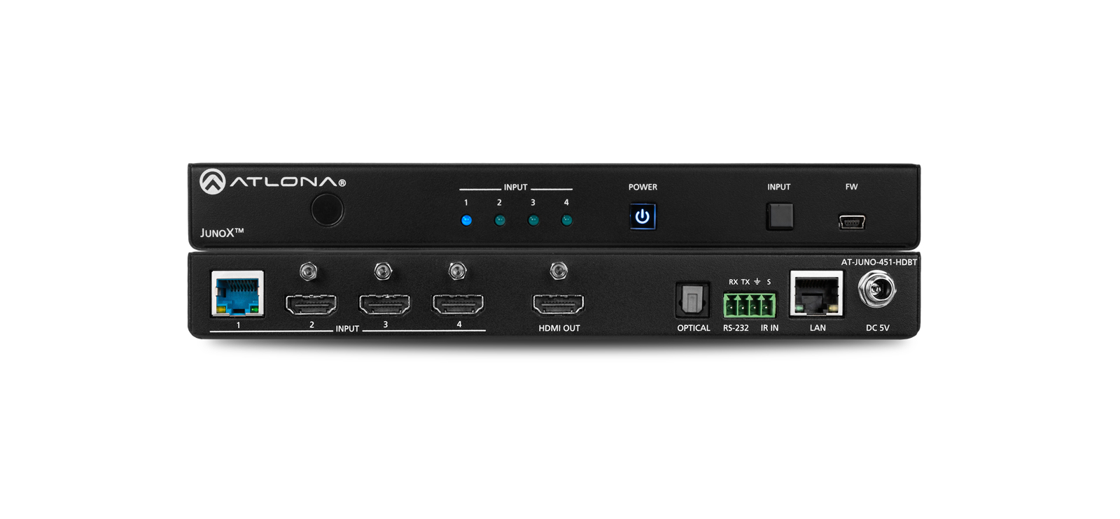 Atlona AT-JUNO-451-HDBT - HDBaseT/HDMI Switcher 4 X 1
