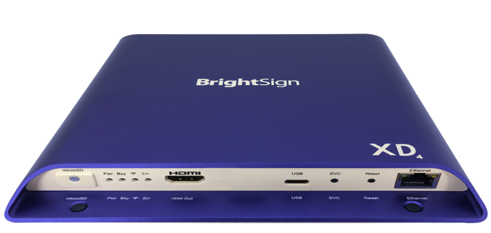 BrightSign XD1034 (2xVideo) - 4K Player, HDR, interaktiv