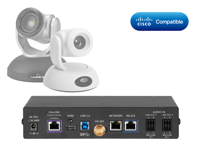 Vaddio Cisco Codec Kit - OneLINK Bridge RoboSHOT HDBT