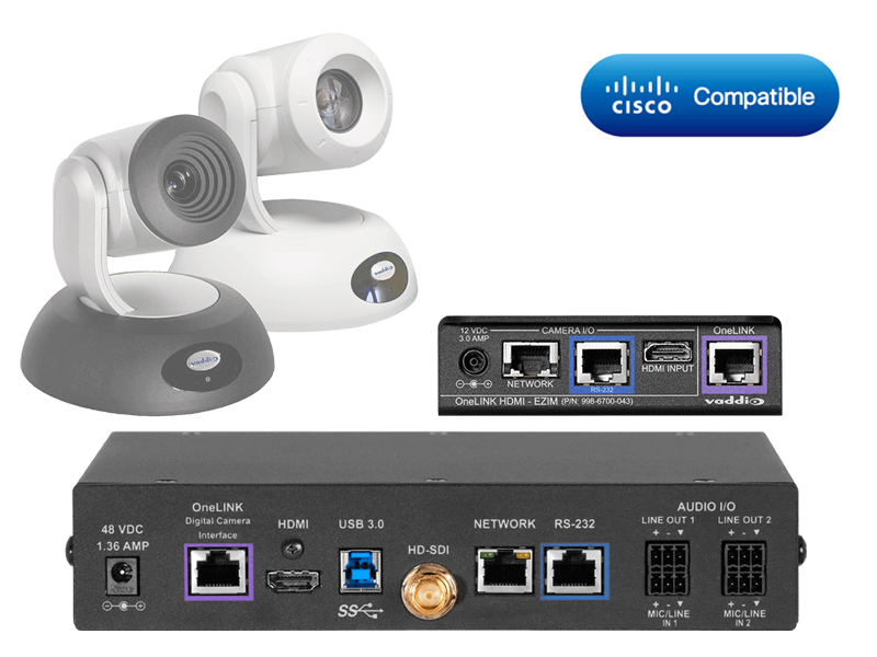 Vaddio Cisco Codec Kit - OneLINK Bridge RoboSHOT HDMI